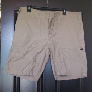 Eddie Bauer khaki lighyweight shorts.
